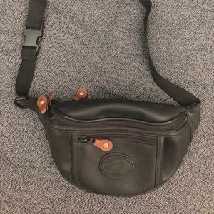 Handbags - Black leather-esque Fanny Pack